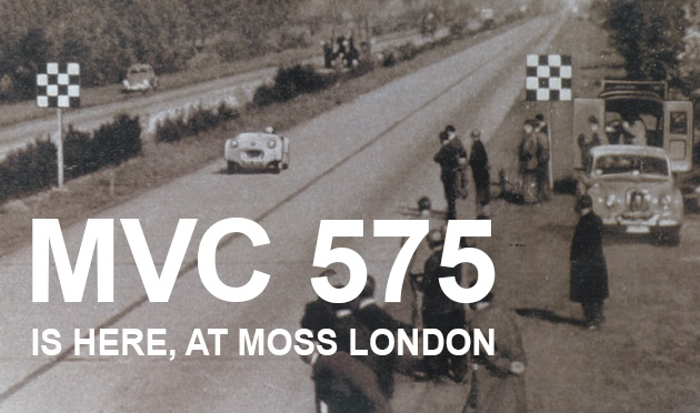 TR2 MVC 575 is now on display in the Moss London showroom