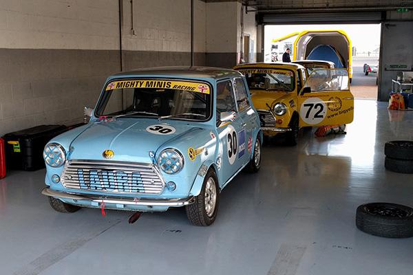 Silverstone ciruit garages