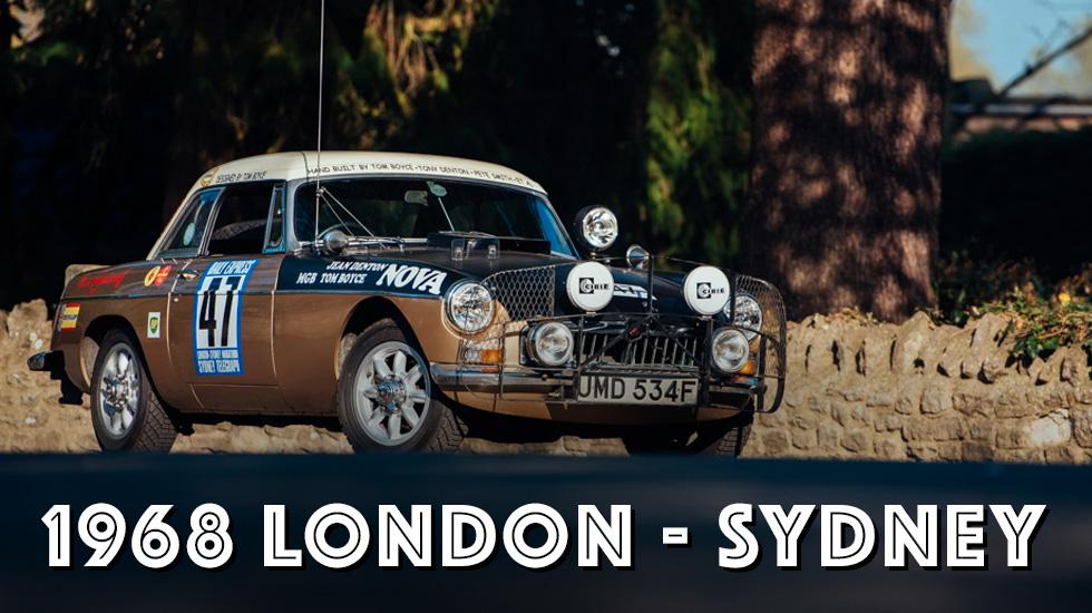 The legendary 1968 London-Sydney MGB blog