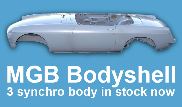 MGB Bodyshell ready to be shipped with no surcharge