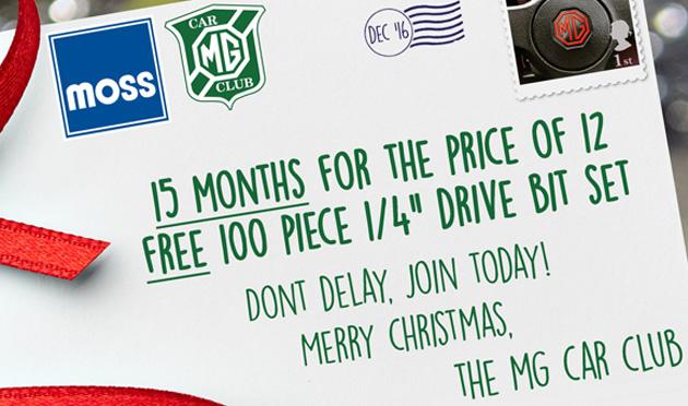 MGCC Christmas membership offer