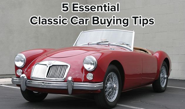 5 essential classic car buying tips