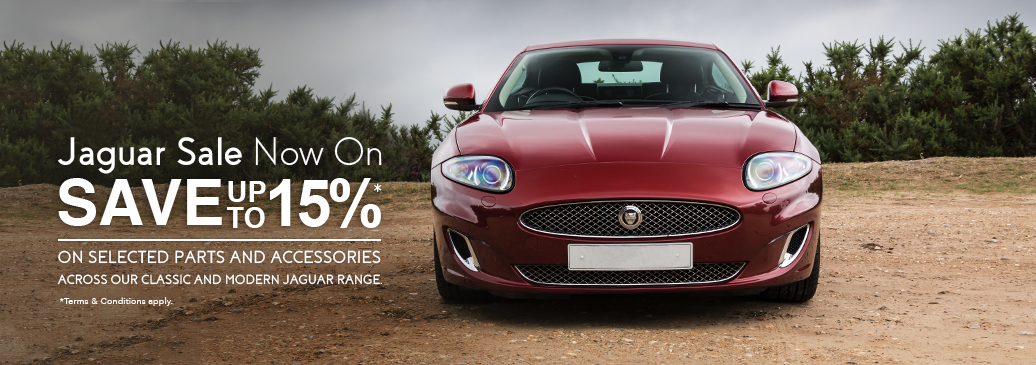 Save up to 15% on selected parts & accessories across our classic and modern Jaguar range