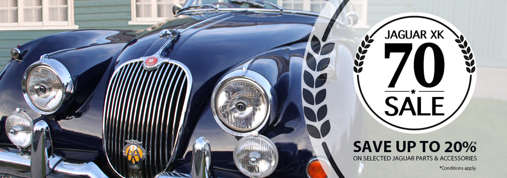 Save up to 20% on selected parts & accessories across our classic and modern Jaguar range