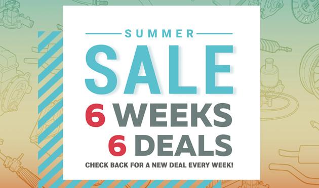 Summer Sale, 6 Weeks - 6 Deals!!