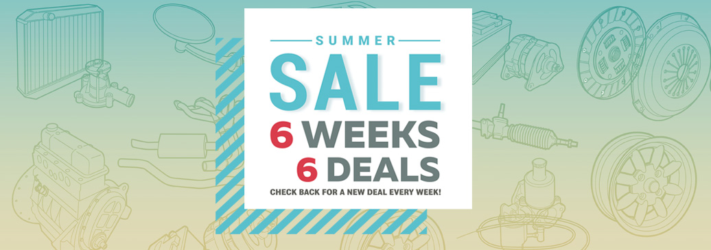 Summer Sale, 6 Weeks - 6 Deals!