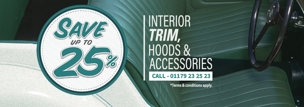 Save up to 25% on interior trim, hoods & accessories!