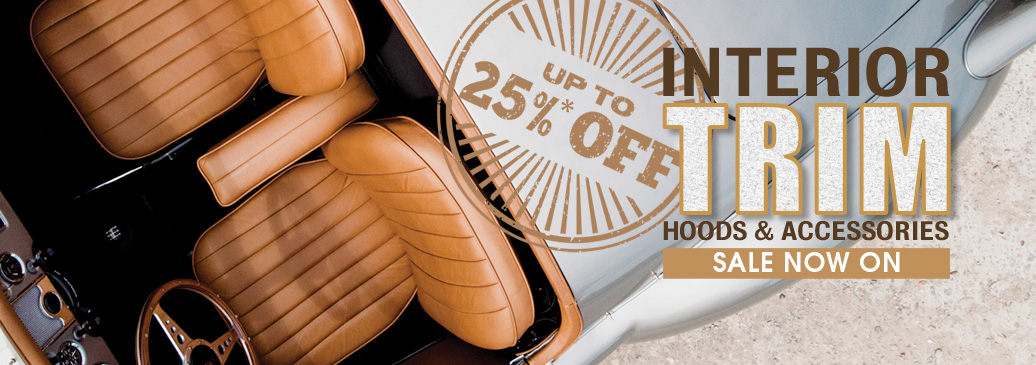Save up to 25% on interior trim, hoods and accessories!