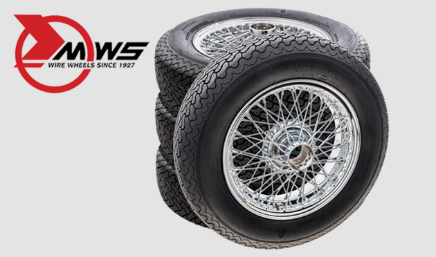Vintage & Classic wire wheel & tyre sets from MWS