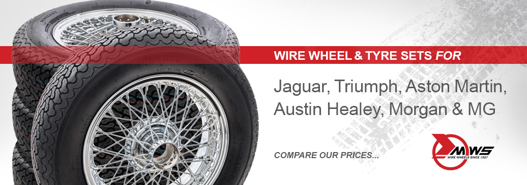 Wire wheel sets come with nitrogen filled tyres