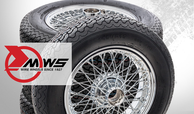 New vintage & Classic wire wheel & tyre sets from MWS