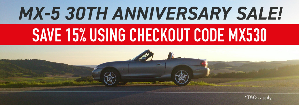 Use Discount code MX530 to save 15% on over 500 MX-5 parts!