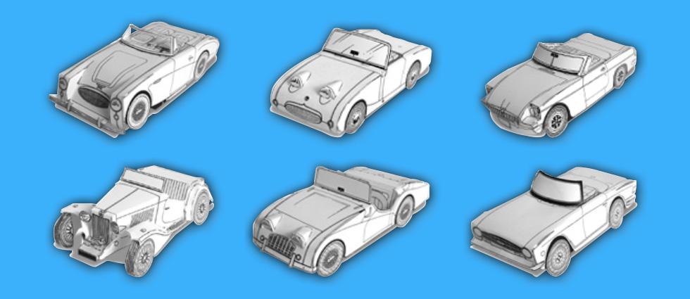 Paper Car Cut-Outs