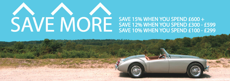 Save up to 15% on thousands of classic car parts, tools and consumables!